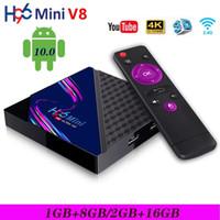 H96 Mini V8 صندوق التلفزيون الذكي الروبوت 10.0 RK3328A 2GB + 16GB 4K 3D 2.4G WIFI Media Player PK T95 X96Q