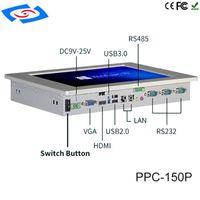 """Mini-pc's 4GB RAM-fanless 15 """"Alles in één aanraakscherm PC Monitor met industrieel paneel Intel Celeron J1900-processor"""