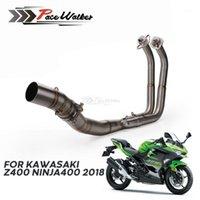 Motosiklet Egzoz Tam Sistemler Başlık Borusu Ön Bağlantı Borusu Ninja 400 Z400 2020 20201 Için 51mm Slip-on Egzoz
