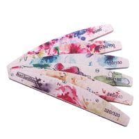 Fichiers à ongles 50 PCS / Fichier de lot 80/100/150/180/240/320 Gel de tampon professionnel Flower Flower Greas Pancing Outils