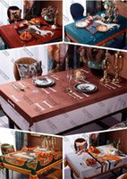 Fashion Print Table Cloth Antifouling Oil-proof Waterproof Non-slip Table Cloth Home Hotel Restaurant Bar Picnic Must Designer Table Cloth