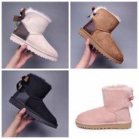 2021 Moda Avustralya Wgg Kadınlar Platformu Tasarımcı Bayan Motorccle Boot Kızlar Lady Bailey Yay Kış Kürk Kar Yarım Diz Kısa Çizmeler 3 D0F8 #