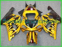 Custom Golden Black AE013 Kit de Feira para Suzuki GSXR 600 750 K1 2001 2002 2003 GSXR600 GSXR750 01 02 03 Kit de feiras de motocicleta