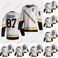 Pittsburgh Penguins Sidney Crosby 2020-21 Reverse Retro Jersey Kasperi Kapanen Kris Letang Jake Guentzel Evgeni Malkin Patric HornQvist