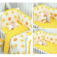 2020 새로운 아기 침대 침구 세트 핫 판매 아기 침구를 둘러싼 코튼 침대 주변의 컬러 침대 4 개 주변 침대 세트