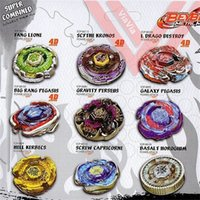 7 unids / lote Classic Beyblades Burst Fusion Fusion 4D System Battle Spinning Toy Top Masters Launcher Pack 201216