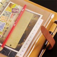 PVC Binder Clear سستة حقيبة تخزين 6 حفرة أكياس القرطاسية للماء مكتب السفر المحمولة وثيقة كيس A5 / A6 / A7 20 O2