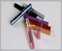 1500pcs / lot protable 5ml 알루미늄 스프레이 향수 병 보이는 창 빈 parfum atomizer 리팩터 병