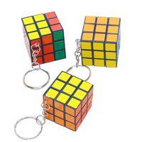 Keychain Mind Spiel Rubik's Cube Keychain Dritter Rubik's Cube Key Anhänger Heißer Verkauf Erwachsene Kinder Schlüsselanhänger Großhandel billig