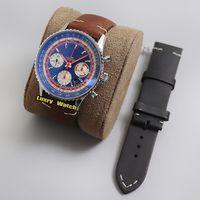 Специальное издание ETA A7750 Автоматический хронограф Мужские Часы Часы Двухсторонняя вращение BEZEL SPORV9F TOP B01 AB01212B1C1x1 Pan AMT STOPWatch Часы