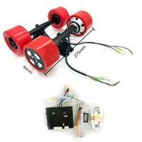 Skateboarding 70mm 83mm 90mm 180w 250w 350w skate elétrico hub motor 8 polegada caminhão duplo movimentação motor1