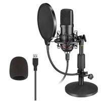 Profissional BM800 Microfone Kit USB Condensador Microfone Gaming com Filtro de Suporte Dobrável para PC Video Streaming Gravação