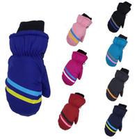 Guanti da sci da sci bambini Guanti da snow boys geometrici modello di stampa snowboard guanti da snowboard ragazze guanti invernali impermeabile antivento guanto all'aperto zyy291
