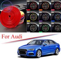 8m Multi-Farben Auto-Radnabe-Rand-Trim für Audi A3 A4 A6 A8 Q3 Q5 Q7 S4 RS TT Sport Edge Protector Ring Reifenstreifen Gui-Aufkleber