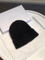 Kadın Kasketleri Top Şapka Yeni Ekose Renk Eşleştirme Kürk Topu Örme Curling Sıcak Bobble Şapka Kadın
