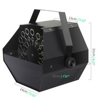 Descuento 25W AC110V Mini Bubble Machine Fácil de transportar iluminación de escenario para boda / barra / etapa negra al por mayor