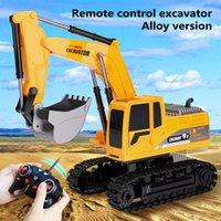 Новый 1:24 RC Truck 2.4G беспроводной дистанционный контроль экскаватор аккумуляторный экскаватор с металлическими лопатками светильников 201201