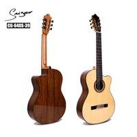 Üst katı ladin klasik gitar akustik elektrikli naylon dize 39 inç guitarra 6 dizeleri toplama gitar ceviz cutaway