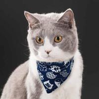 Bandana-Kragen für Katzen Hund Haustier Katze Welpe Schal Halstuch Einstellbar Gedruckt Bowtie Bandanas Kragen Dreieckiges Haustier ACC BBYCQI