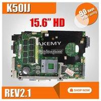 태블릿 PC 마더 보드 asus 노트북을위한 K50ij 마더 보드 x5dij, k60ij, k40ij, x8aij rev 2.1 USB 2.0 DDR2 메인 보드 15 인치 100 % 테스트 1