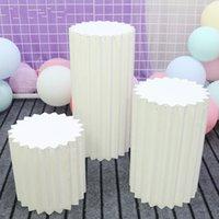 Düğün Sahne Sahne Çok Renkli Origami Yuvarlak Sütun Üç Parçalı Alışveriş Merkezi Dekor Ev Doğum Günü Partisi Düzenleme