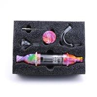 Conjunto de bolsas de tabaco premium del colector de vidrio con el recipiente de cera BONG de silicona con el almacenamiento de uñas de titanio Metal Dabber Pipe Accesorios para fumar