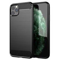 Carbono Fibra TPU Telefone Capa Para iPhone 12 11 Pro Max XR XS MAX LG Samsung Galaxy Nota Fe S10 S9 A10 A70 A60 M20