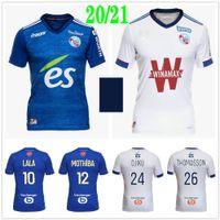2020 2021 RC Strasbourg Alsácia Alsácia Jerseys Lala Sissoko Thomasson Djiku Mothiba Martin Personalizado 20 21 Home Away Adulto Crianças Futebol Camisa