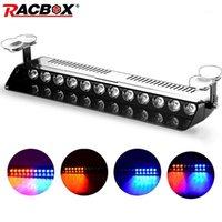 Notlicht 12 V LED-Strobe-Flash-Warnlampe 12 LEDs Rot Blau-Signallampen blinkende Arbeitsauto Retrofit Styling1