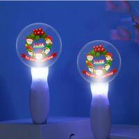 عيد الميلاد مضيا أضواء سانتا كلوز أضواء الليل العصي توهج الصمام عيد الميلاد الموسيقى العارض مصباح 2021 أطفال هدايا لعبة ضوء لمهرجان ديكور F112106