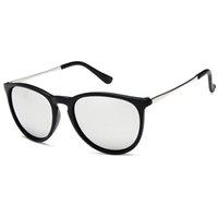 Mode Classic Runde Sonnenbrille Männer Frauen Designer Eyewear Erik Weibliche Sonnenbrille Eric Matte Schwarz Schildkröte Rahmen mit Fällen online