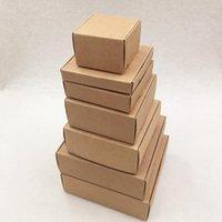 24 pçs / lote 7 tamanhos Pequenos papelão de embalagem de papelão de embalagem Caixa de presente Handmade Doces para decorações de casamento Partido de evento Jlliii