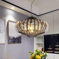 Amerikan fener kristal avize yemek odası oturma odası yatak odası kolye ışıkları giriş çubuğu masa lambası kahve dükkanı lambaları