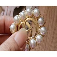 3pcs Pearl Floral Crystal Spilla Rhoudium Pearl Pin Flower e Spille per le donne Wedding Bridal Corsage Decorazione A241A