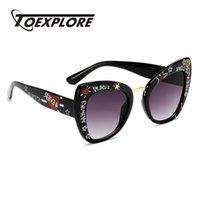 نظارات شمسية TOEXPLORE أزياء المرأة القط العين خمر مرآة الفاخرة الرجعية نظارات uv400 فتاة ماركة تصميم نظارات الشمس بالجملة