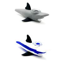 """Nouveau Design 5.5 """"Mini Tuyaux d'eau Tuyaux de requin Bongs de verre avec bol Tuyaux de tabagisme Silicone pour fumer du tabac"""