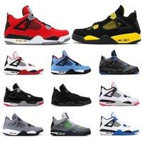 Yeni Basketbol Ayakkabıları 4 S Erkek Mantar Kaktüs Jack Dövme Için Bred Yangın Kırmızı Thunder Neon Alternatif Serin Gri Erkek Spor Sneakers Boyutu 7-13