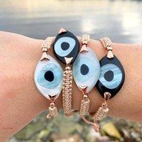 Bracelets de charme bracelet oeil maléfique pour femmes bijoux 2021 branchement bijoux turcs Bohemian amitié Pulsera corde tressée