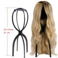 Cheap Ajustable Wig Stands Plastic Hat Display Parrucca Testa Testa Mannequin Testa / Stand Pieghevole Pieghevole Pieghevole Stand # 26