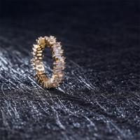NOUVEAU Mode Zircon CZ Bague de mariage en Zircone irrégulier Cubic Zircon anneaux Fit 6 # à 10 # Pour les femmes Cadeau de fête de bijoux 132 O2