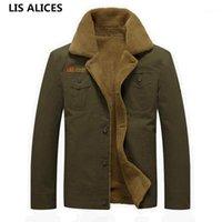 LIS Alices Kalınlaşmak Polar Kış Ceketler erkek Mont 5XL Pamuk Kürk Yaka erkek Ceketler Casual Erkek Giyim1