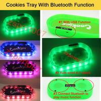 Biscotti vassoio Modalità partito Glowtray Blu Rosso LED Biscotti Rolling Glow Vassoio Bianco Runtz Backwoods con altoparlante Bluetooth per rotolamento Erba asciutta