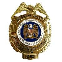 Amerika Birleşik Devletleri Metal Rozet Özel Ajan Dedektif Coat Yaka Broş Pin Insignia Memur Amblem Cosplay Koleksiyonu Film göster