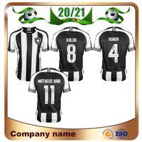 20/21 Botafogo de Futebol e Regatas Black Futebol Jerseys 2021 Botafogo Home # 1 Jefferson Camisa de Futebol Futebol Uniforme