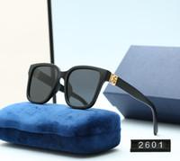 2021 Venta caliente Diseño de marca Gafas de sol Vintage Marca Piloto de sol Gafas de sol Banda UV400 Hombres Mujeres Ben Marco Polaroid con caja 2601