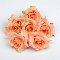 인공 꽃 실크 로즈 헤드 웨딩 파티 홈 장식 DIY 화환 스크랩북 공예 가짜 장미 꽃 yys3581