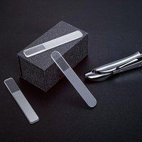 Verre trempé Fichier ongles Nail Art Tampon Manucure Pédicure Polissage Tool de meulage rond Verre Cristal Crystal Polissage Strips Qylghy