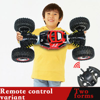 RC سيارة 4WD شاحنة على الوجهين 2.4 جيجا هرتز مفتاح واحد تحويل كل التضاريس مركبة فارنيد تسلق لعبة سيارة التحكم عن بعد للبنين