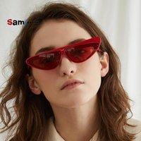 Sonnenbrille Samjune Asymmetrische Katze Eye Frauen Dreieck Sexy Small CcSpace Marke Brille Designer Mode Vintage Weibliche Farbtöne