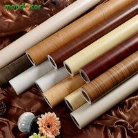 Wrapping Wood Grain Autoadesivo Carta da parati Carta da parati Adesivi Porta Adesivi Impermeabile PVC Vinyl Contatto carta per cucina Decorazioni per la casa 201201